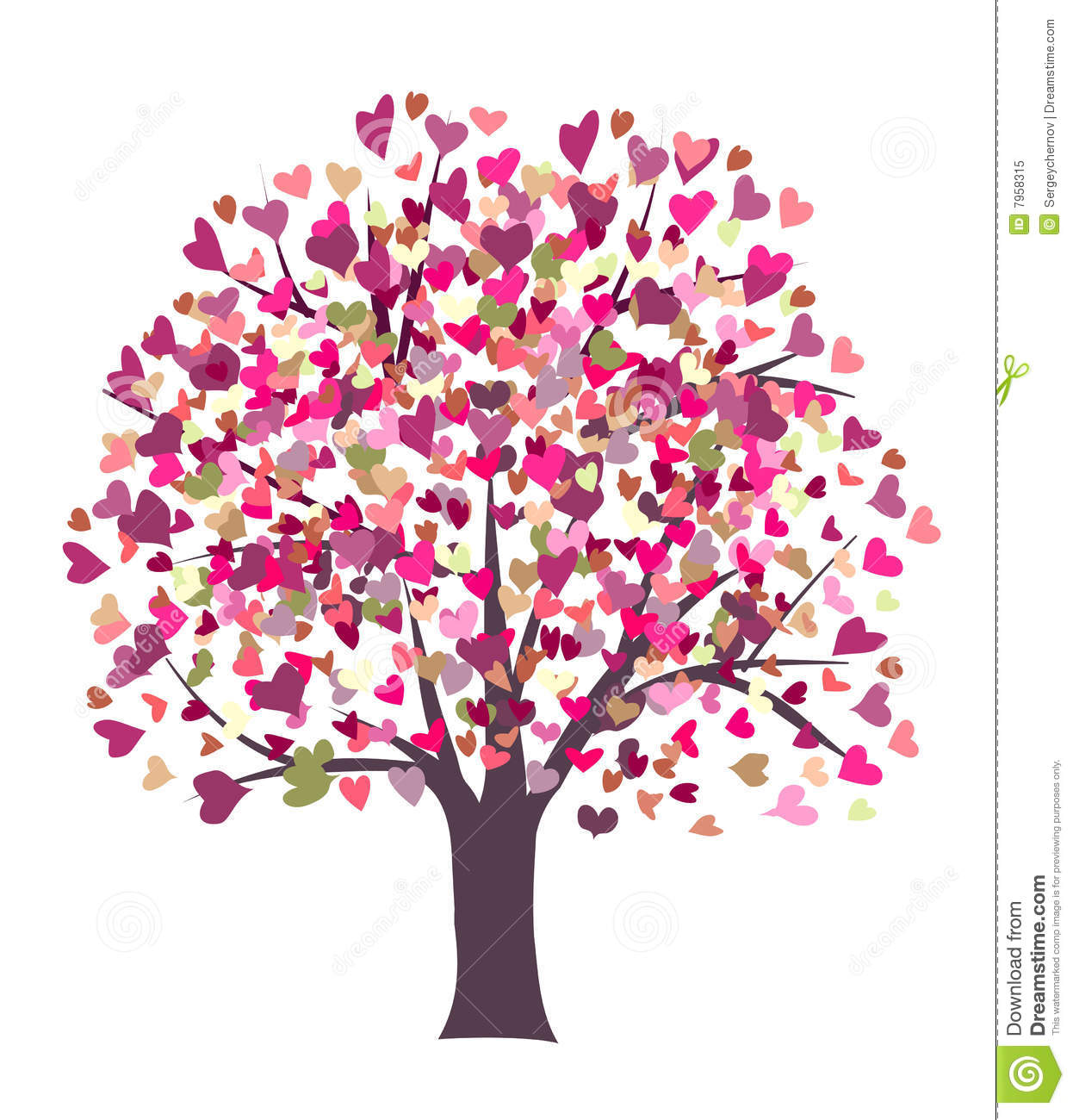 Love Symbol Tree Stock Vector Illustration Of Modern 7958315