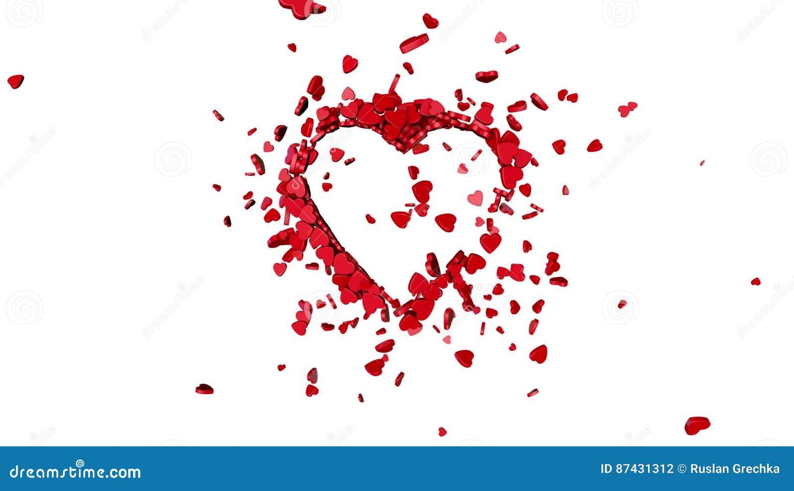 Love Symbol Valentine 3d Animation Stock Footage Video Of
