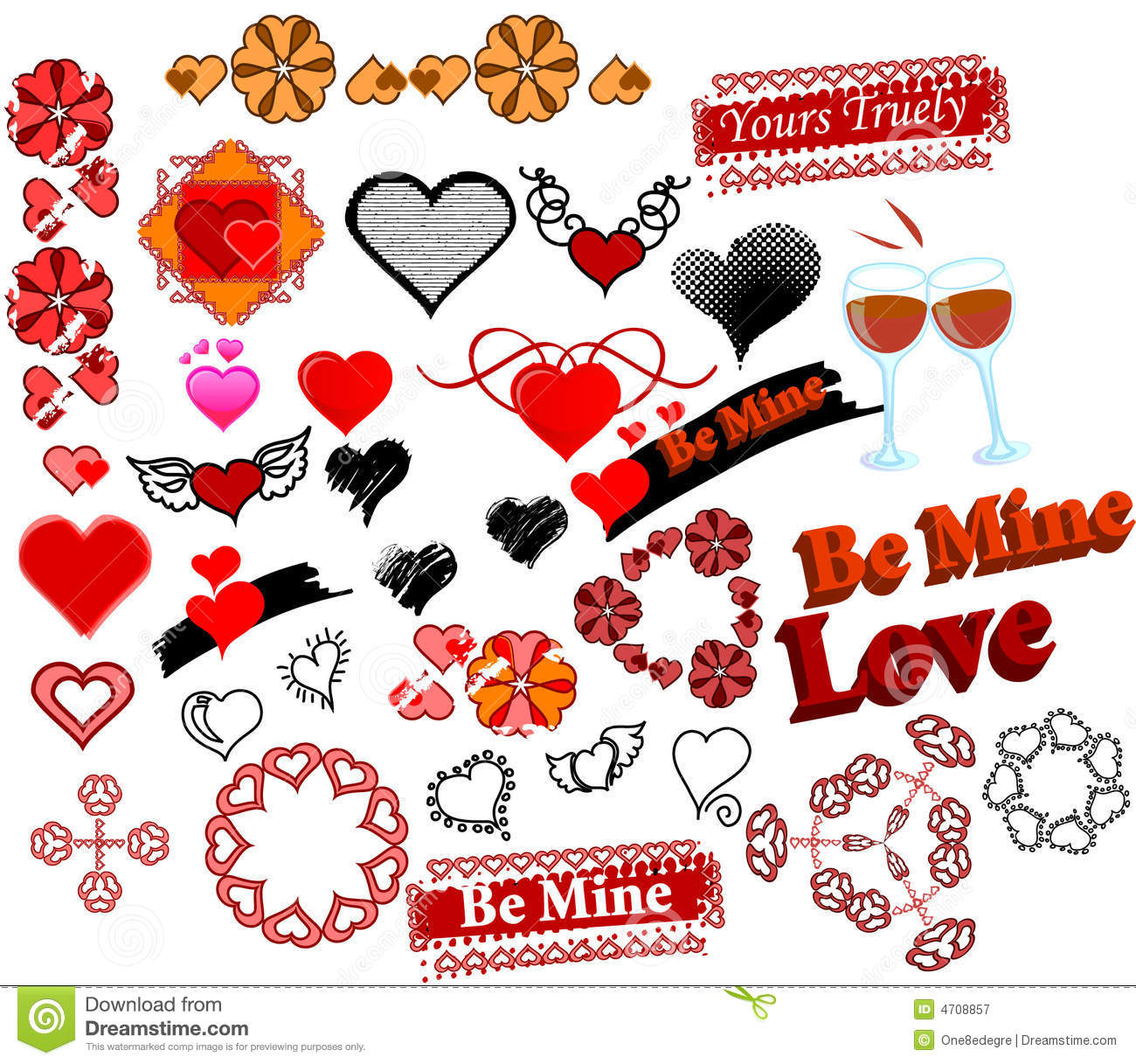 Love symbols and stamps 34 in set stock vector illustration of love symbols and stamps 34 in set buycottarizona Image collections