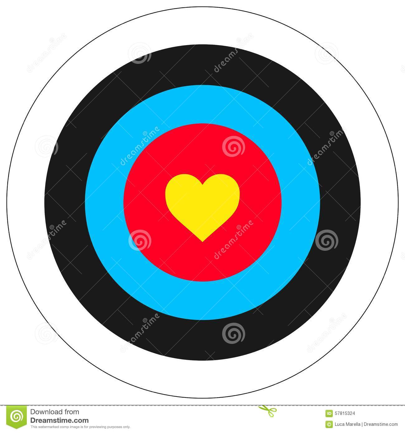 Love target stock vector illustration of feeling archery 57815324 love target thecheapjerseys Gallery