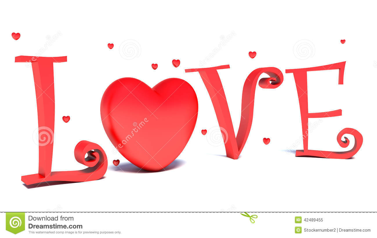 Love text and big red hearts on white background stock love text and big red hearts on white background buycottarizona Image collections