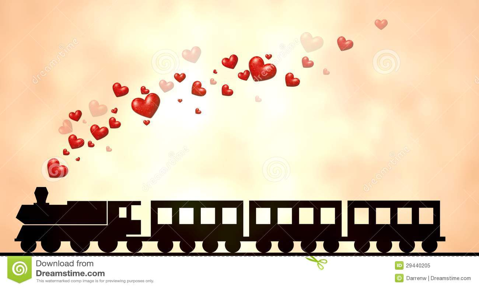 Love Train Royalty Free Stock Photo Image 29440205