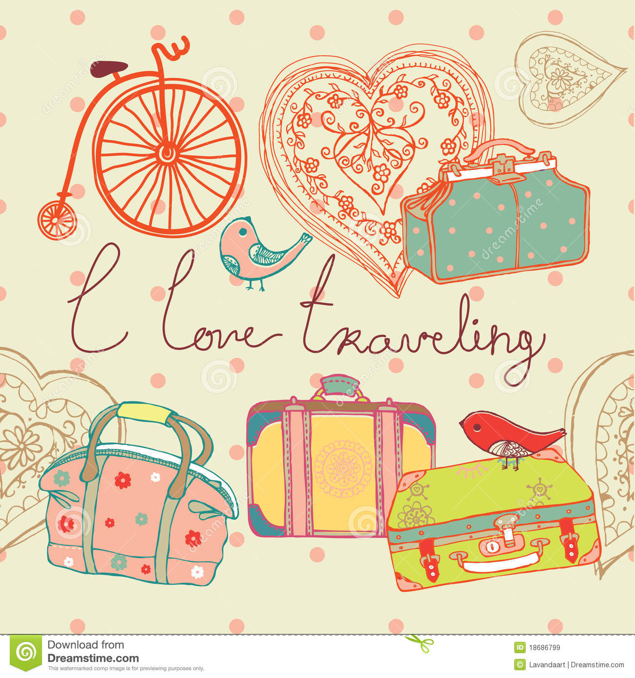 Love of travel background