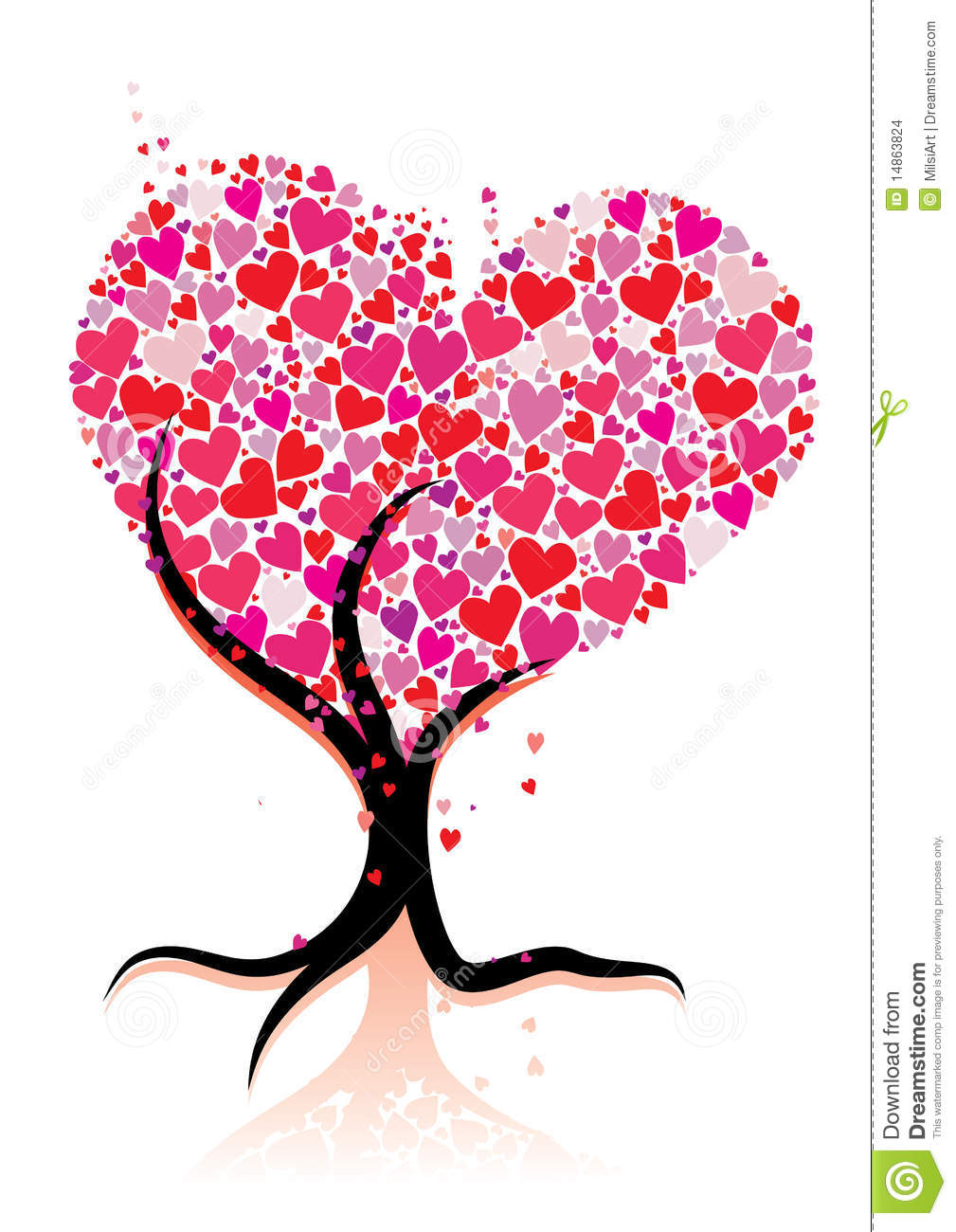 Stock Images Love Tree Image14863824 on Stock Illustration Fish Silhouette