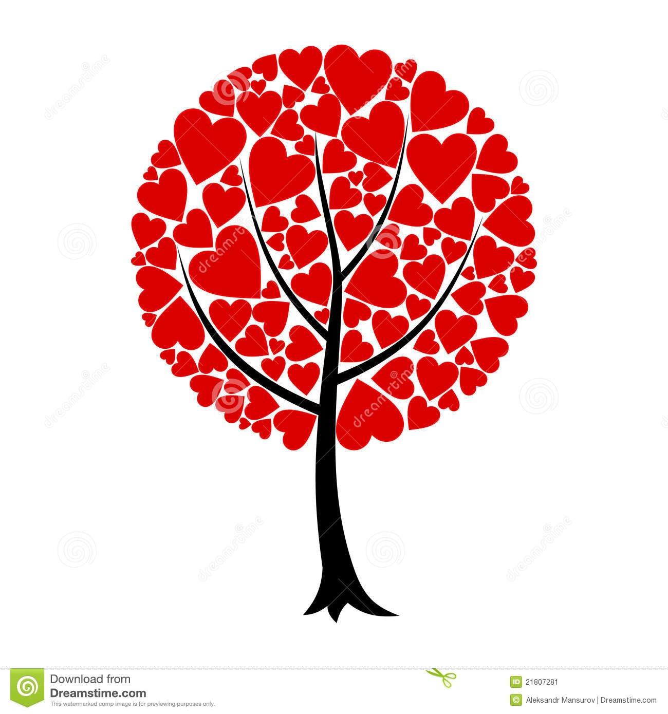 Love tree stock vector. Illustration of design, plant ...