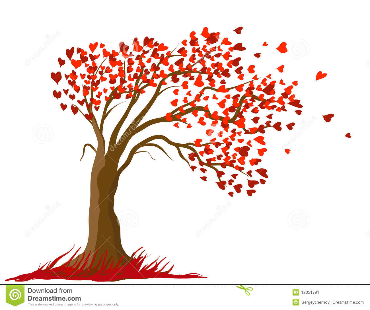 Love tree design stock illustration illustration of for Love in design