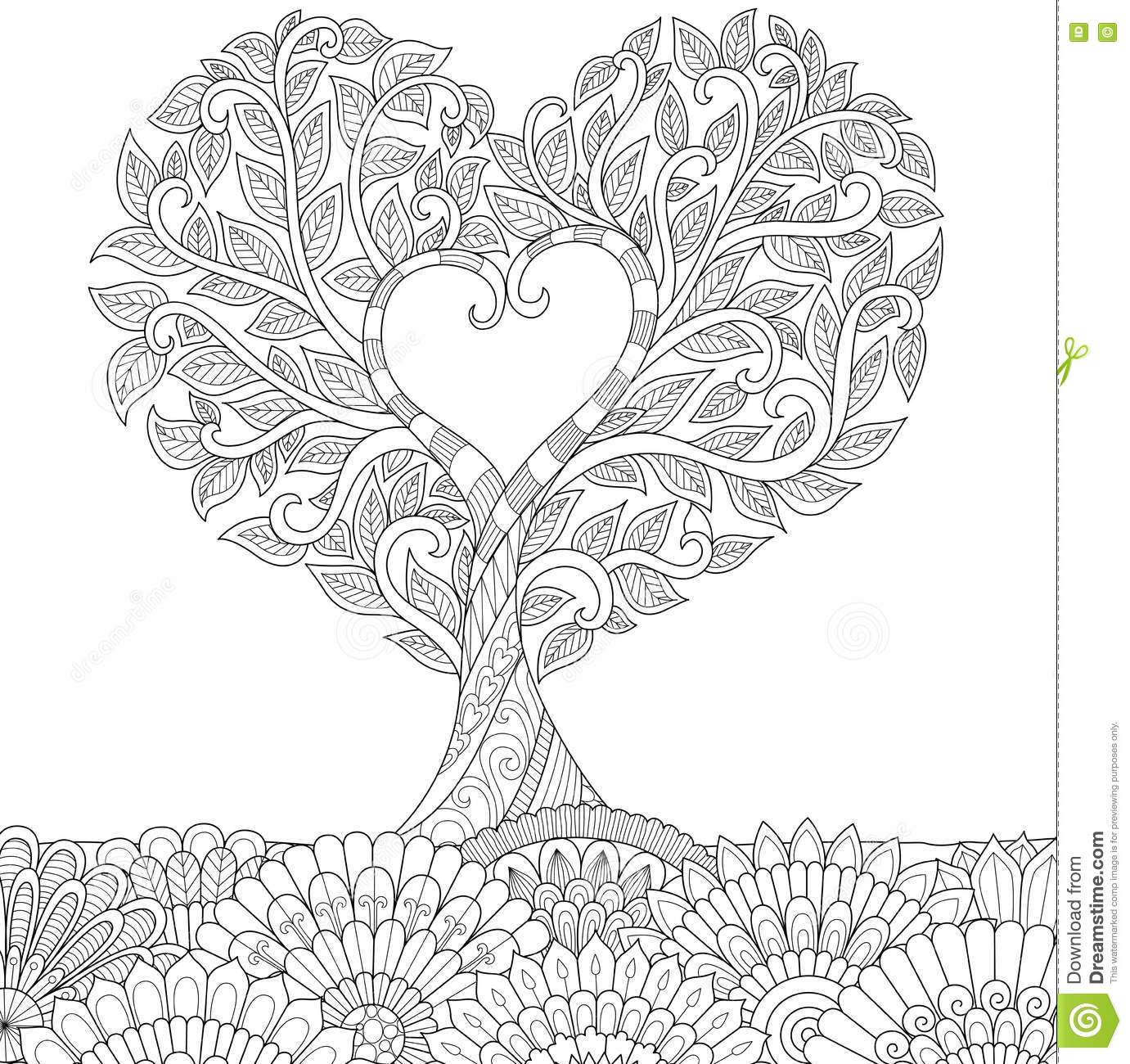 Love Tree Cartoon Vector