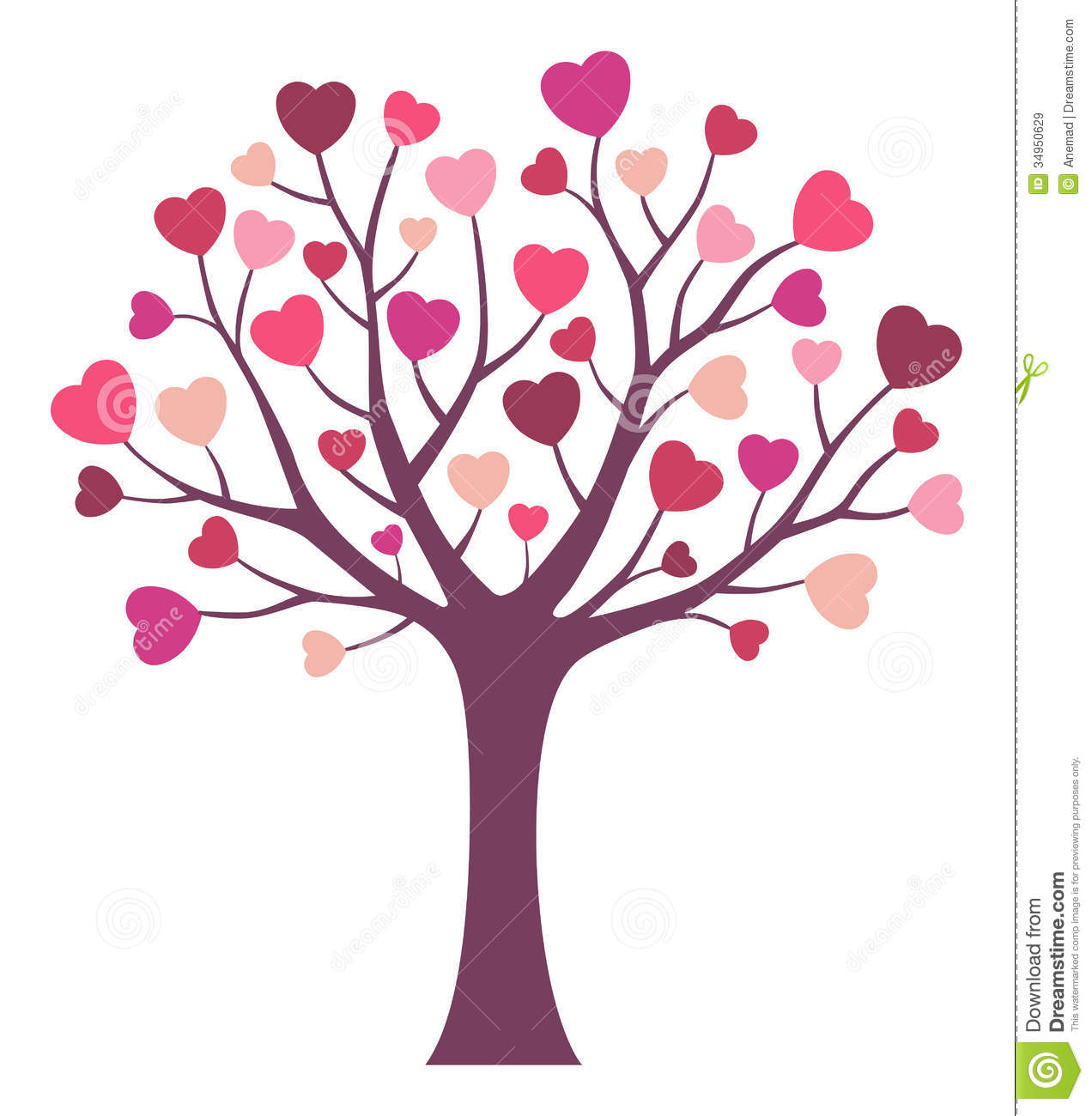 Love Tree Royalty Free Stock Images Image 34950629