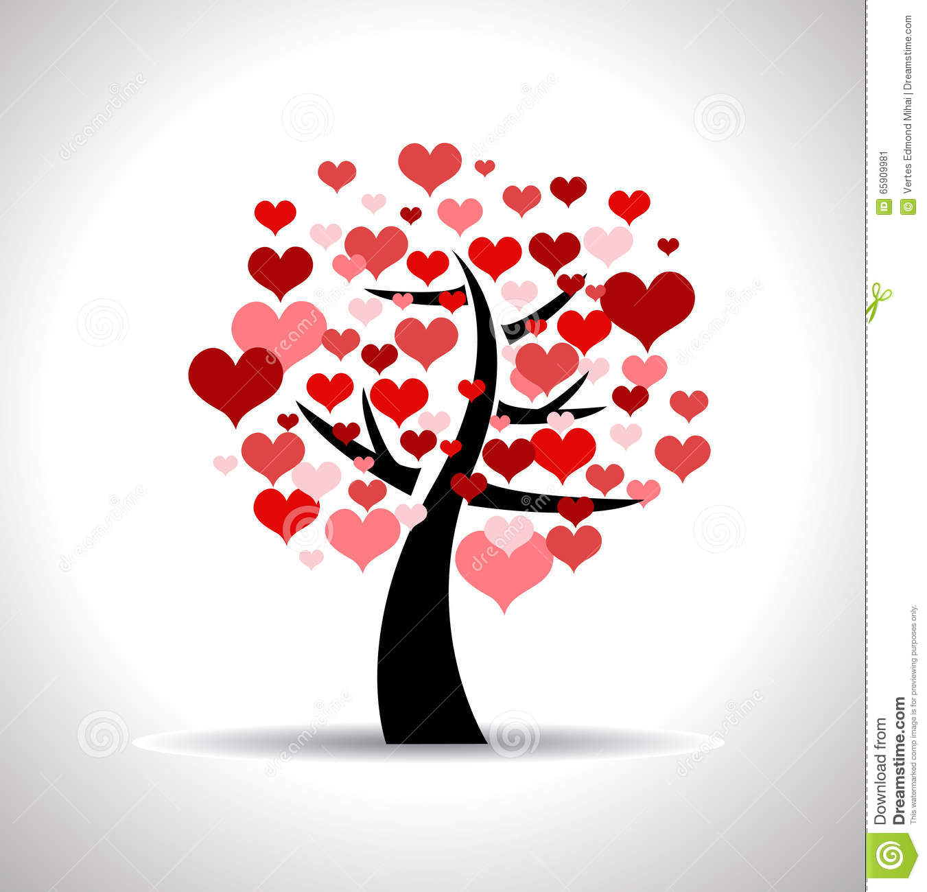Love Tree Stock Vector - Image: 65909981