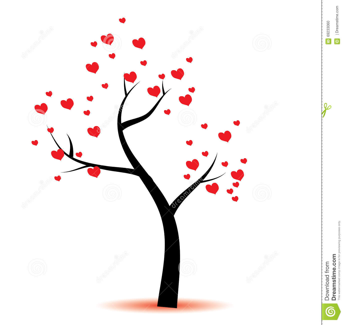 Love Tree Stock Illustration Illustration Of Kiss Peace 69233060