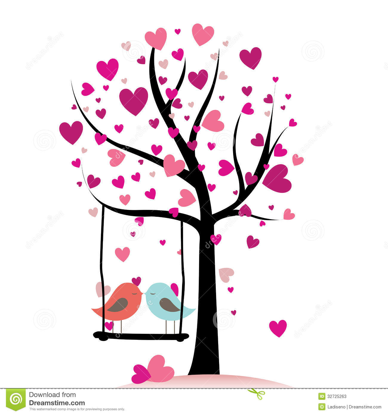 Love Stock Vector Image Of Love Painting Shape Illustration