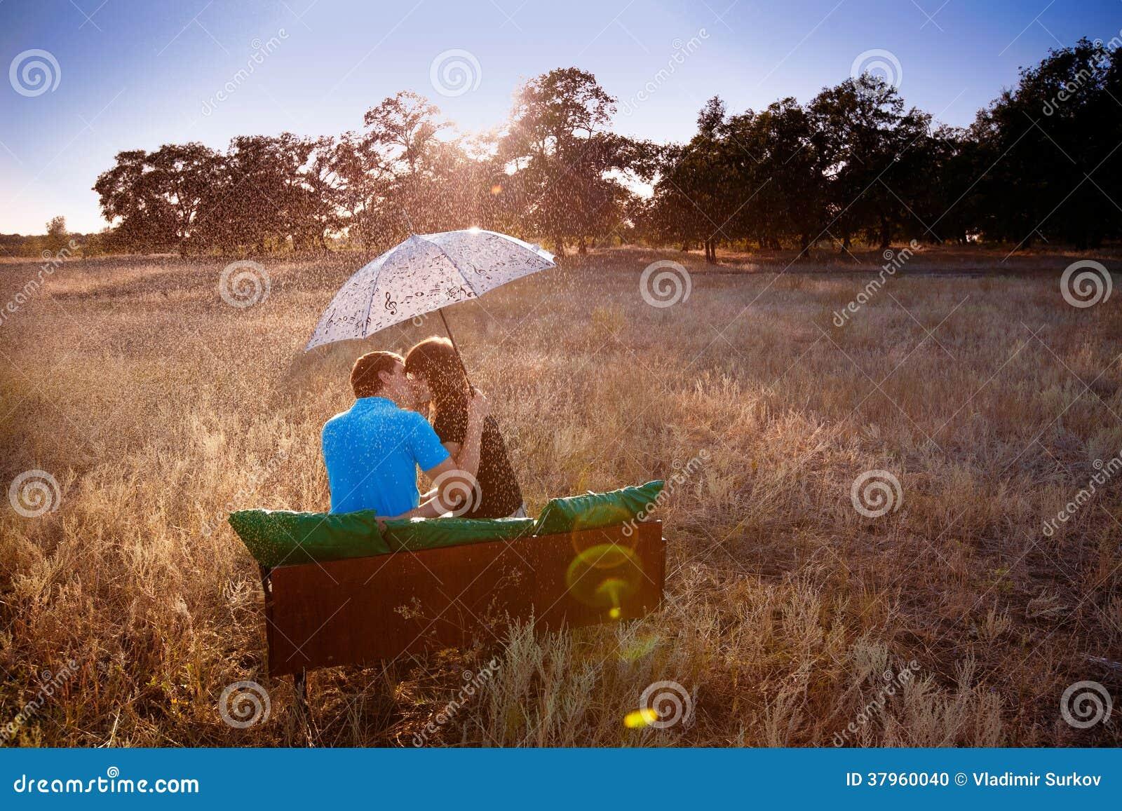 Love Under The Rain Stock Photo - Image: 37960040
