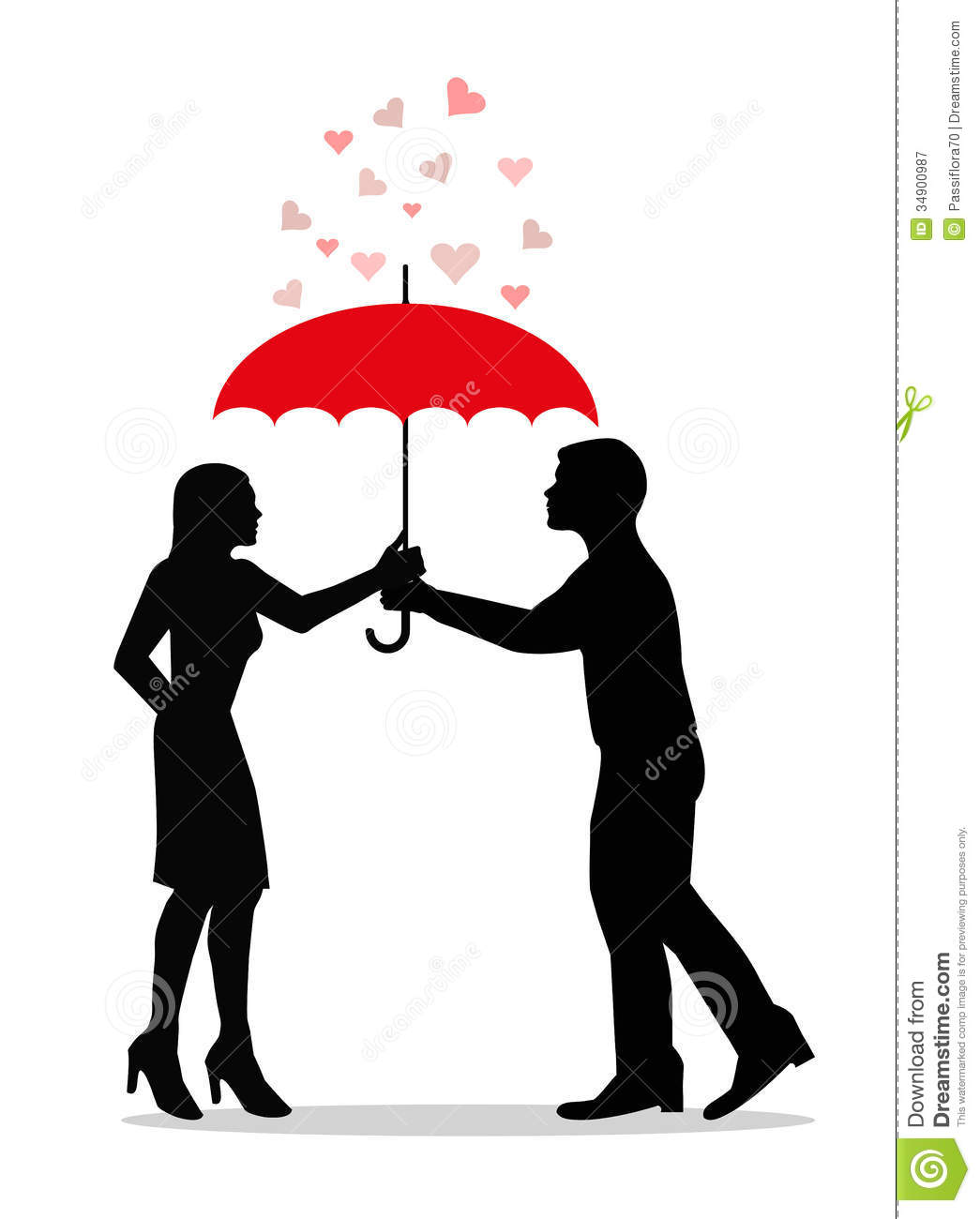 Love Under Umbrella Royalty Free Stock Photography
