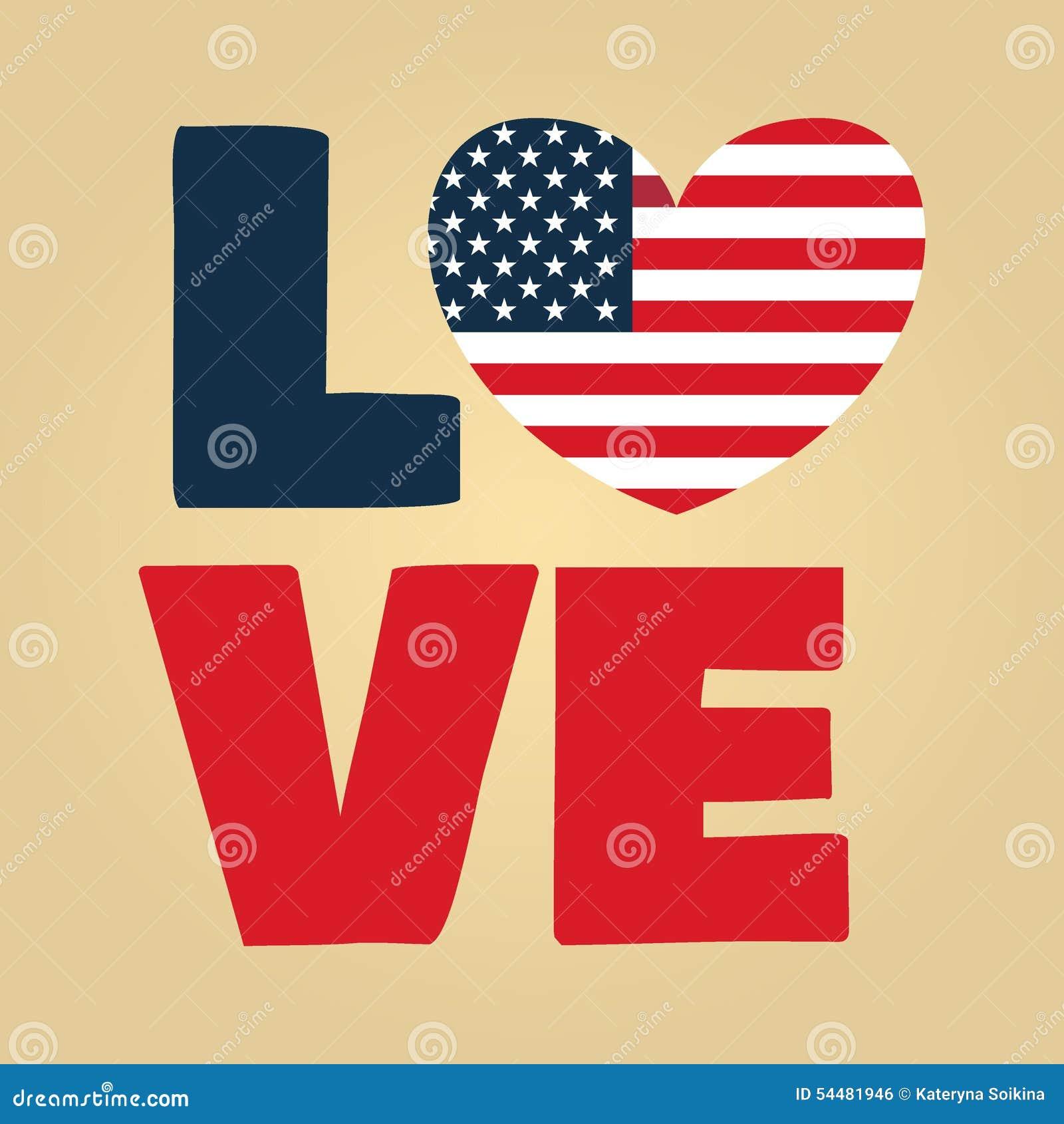 Love USA america