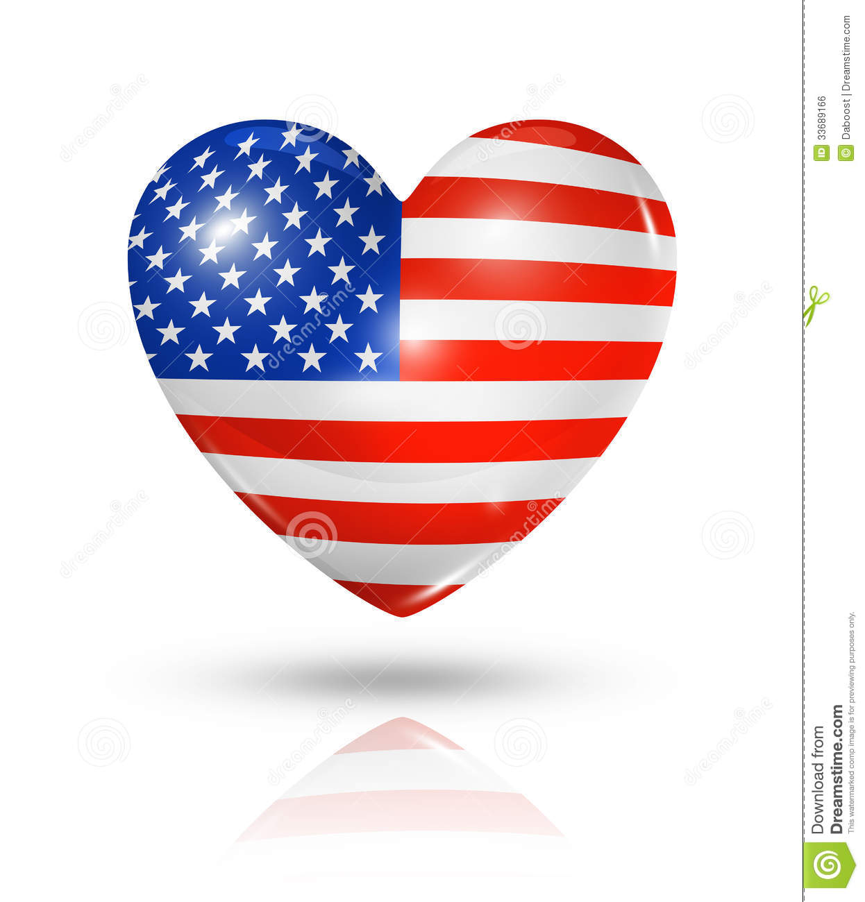 love usa heart flag icon stock illustration image of heart 33689166. Black Bedroom Furniture Sets. Home Design Ideas