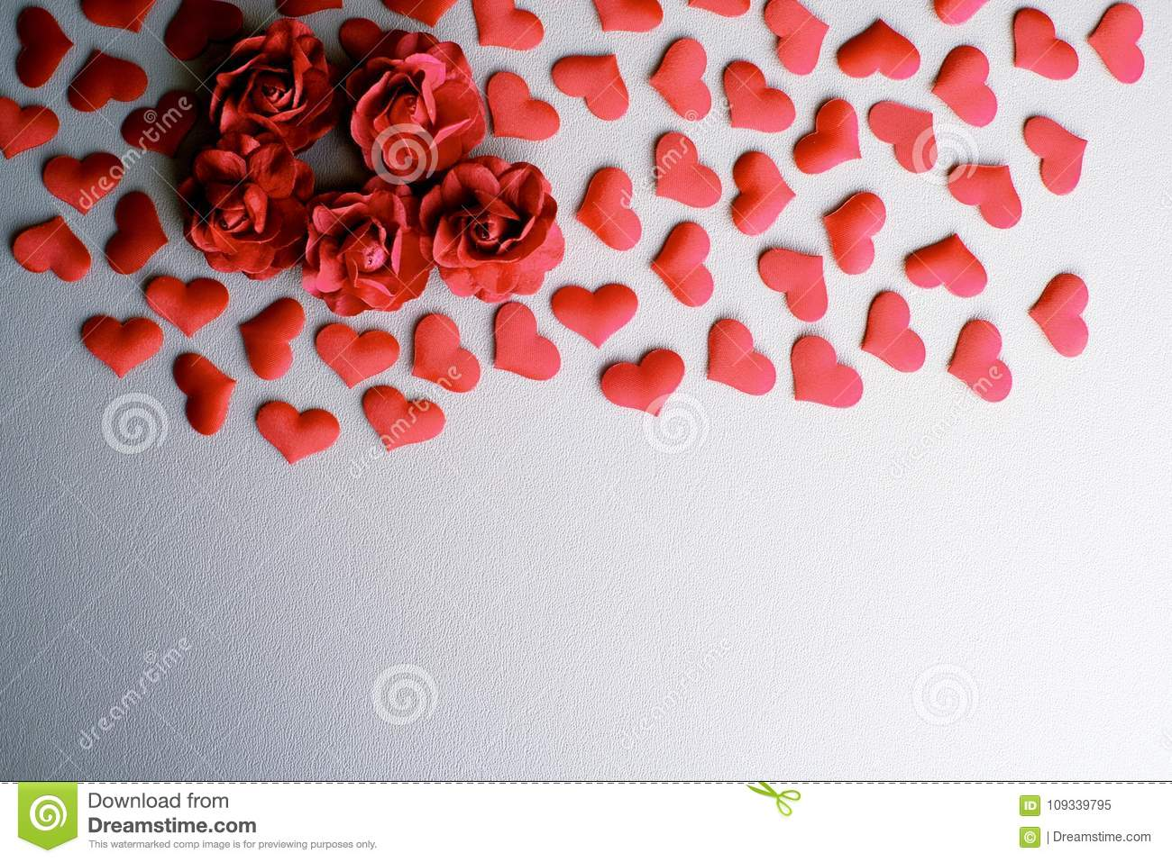 Love Valentines Day Romantic Background  Hearts And Roses