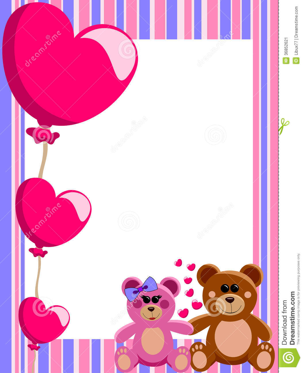 Illustration featuring decorative valentine Love Frame or Border with ...