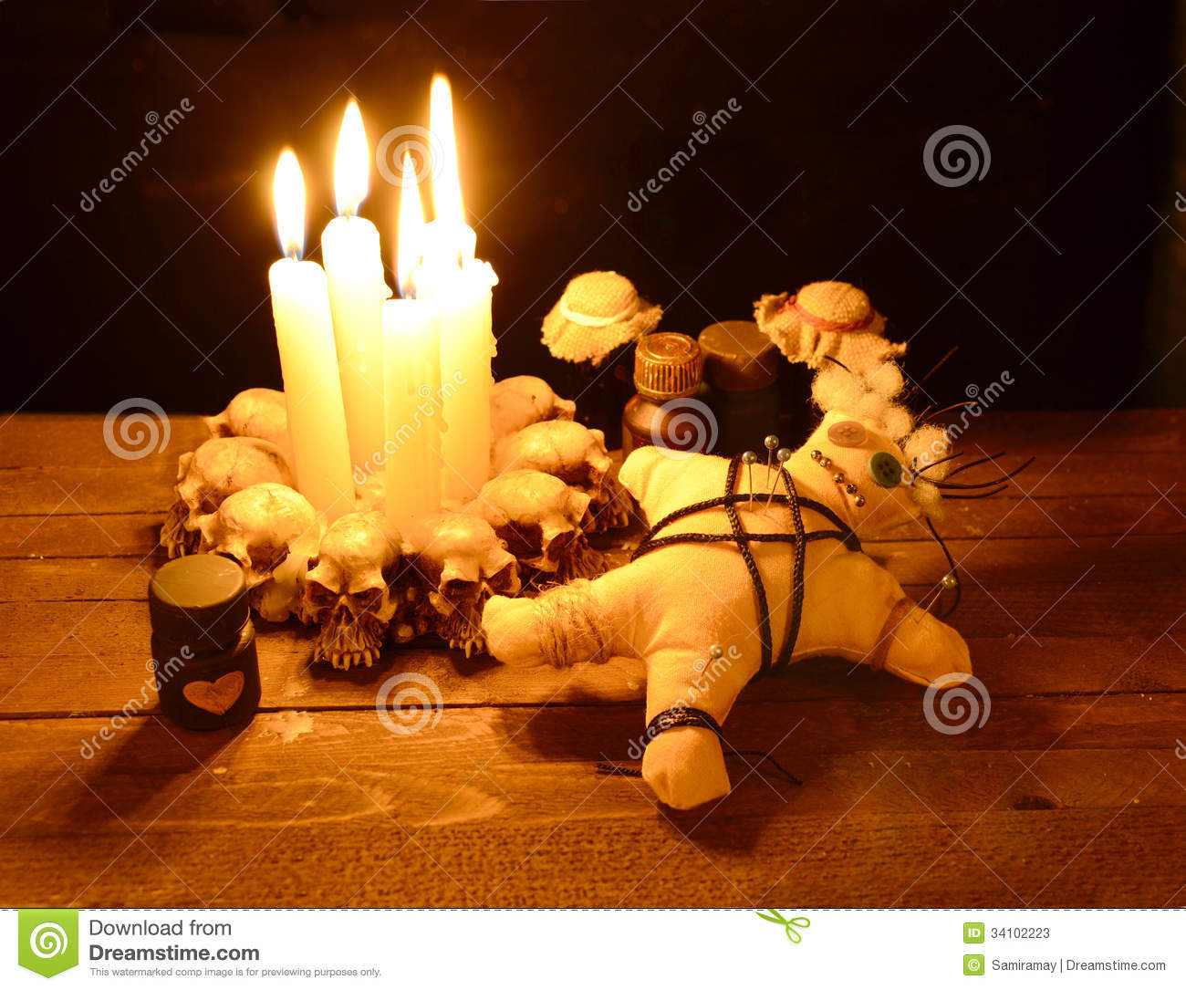 love voodoo ritual in candlelight stock photos