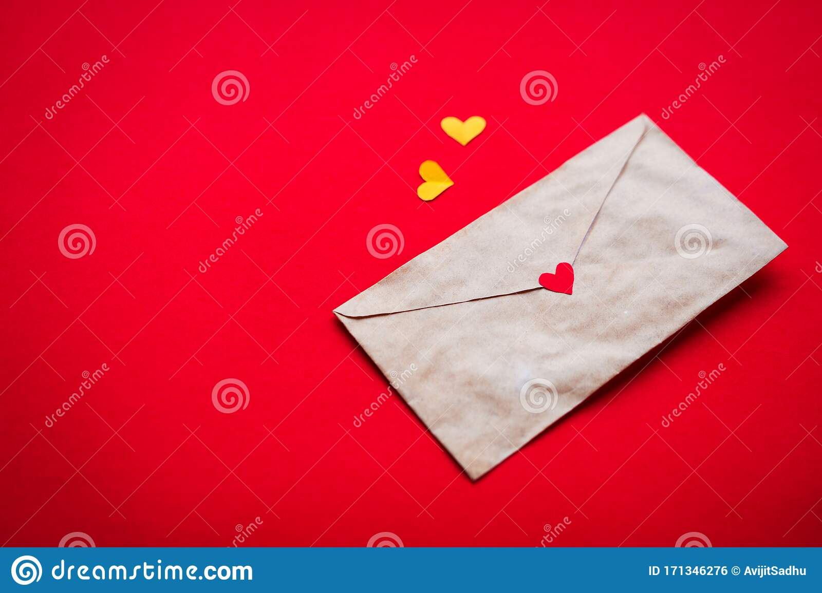 Romantic Little Hearts With Love Letter For Valentine S Day Wallpaper Stock Photo Image Of Concept Craft 171346276
