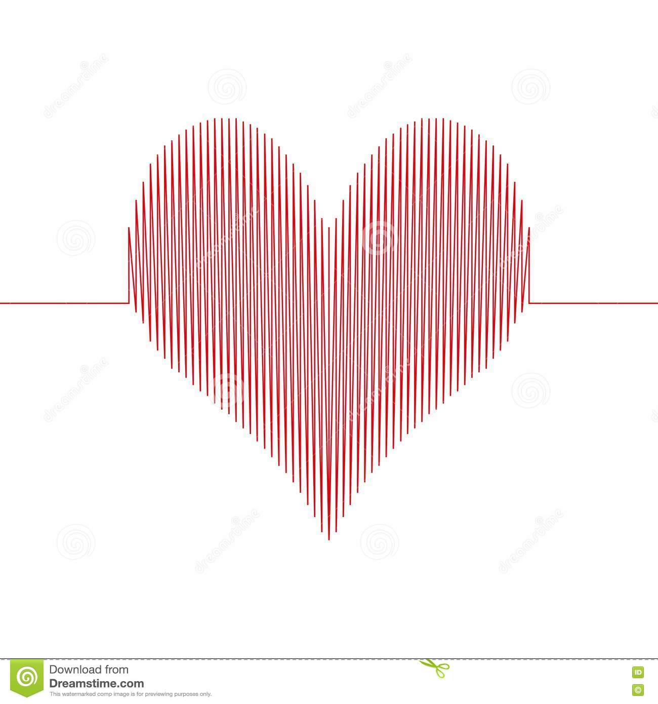 Love Wave Heart Stock Vector Illustration Of Cardiogram 81773445