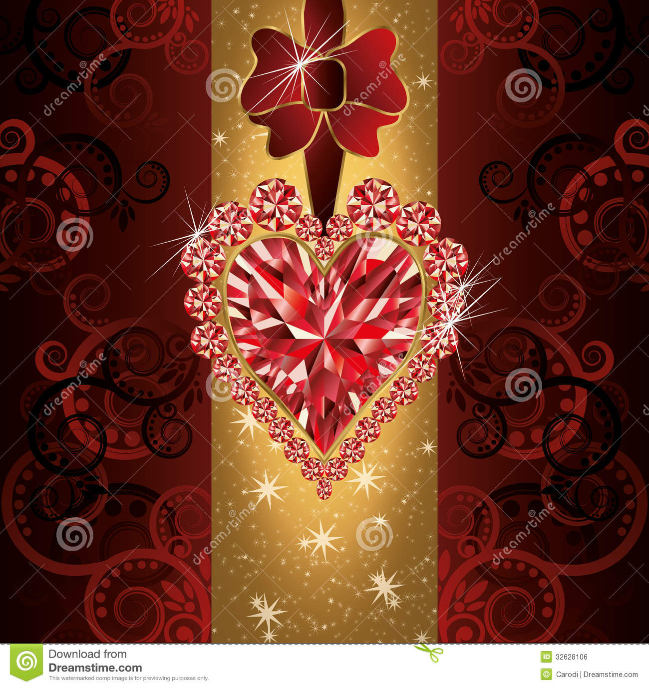 Love Wedding Invitation Card Stock Vector - Illustration of heart ...