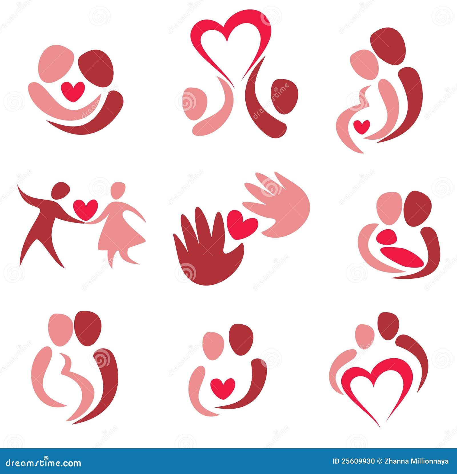 Valentine Design Ideas Love Wedding Set Of Couple In Love Icons Stock Vector