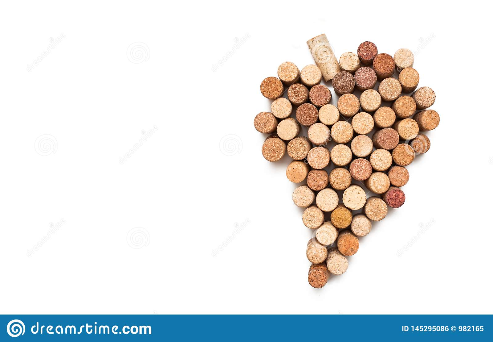 Love for wine. Wine cork heart symbol
