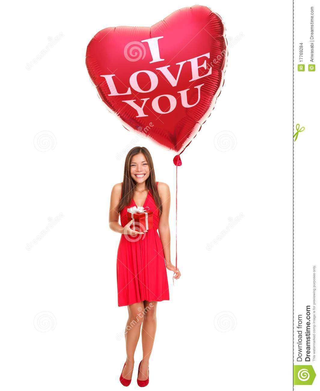 Love Woman With Balloon Gift Stock Images Image 17769284
