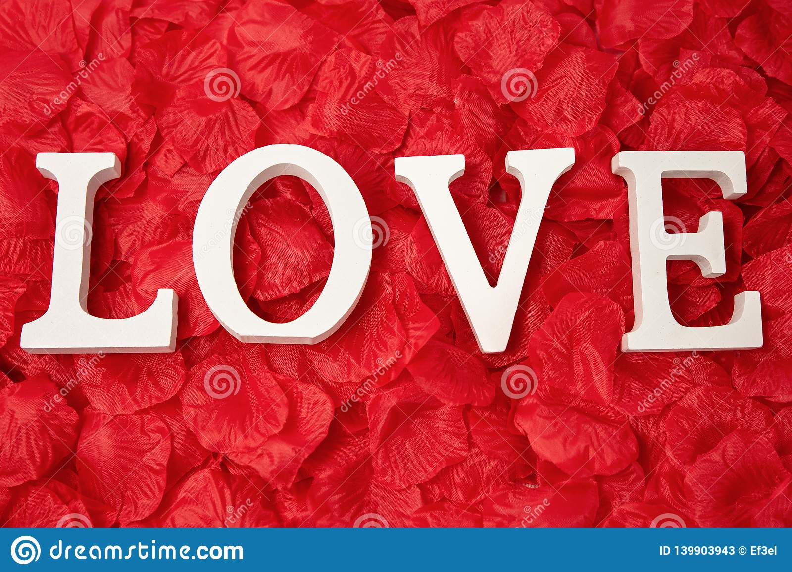 Love Word Of Roses Petals Wallpaper Stock Image Image Of Petals