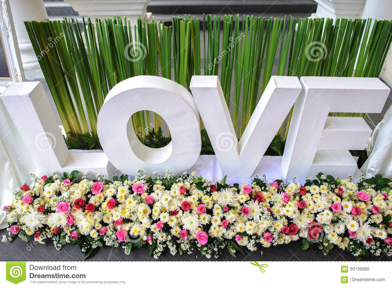 Love Word For Wedding Backdrop Stock Photo Image Of Background