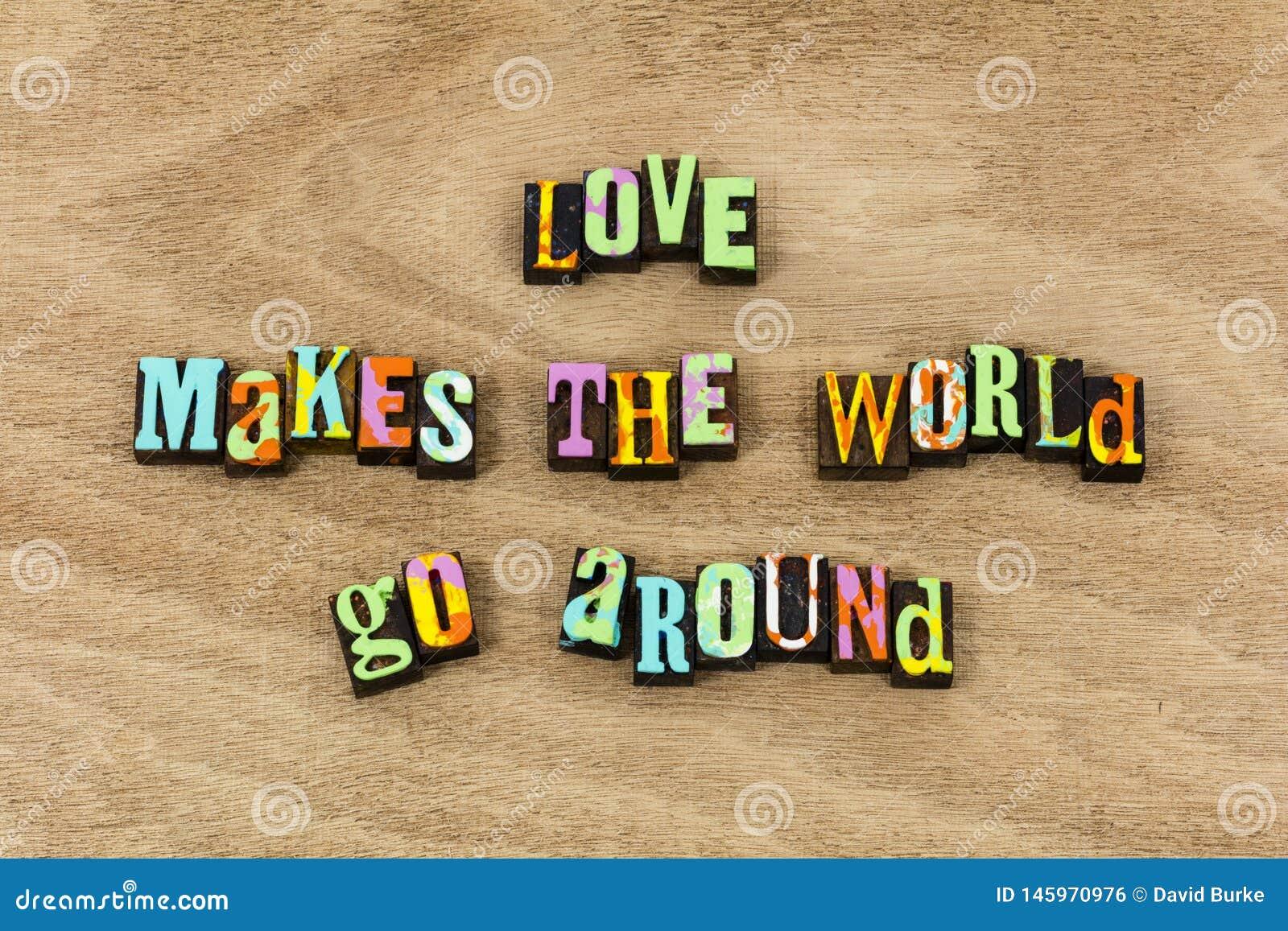 Love world positive attitude life live family expression