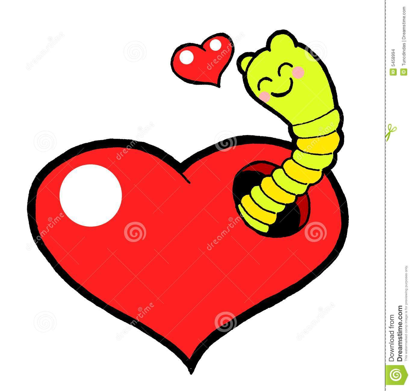 Love Worm Stock Images Image 5458994