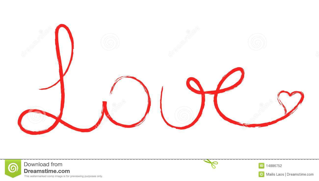 Love written stock photography image