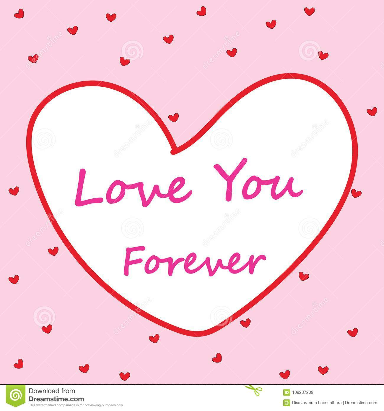 Love You Forever Modern Cute Abstract Background