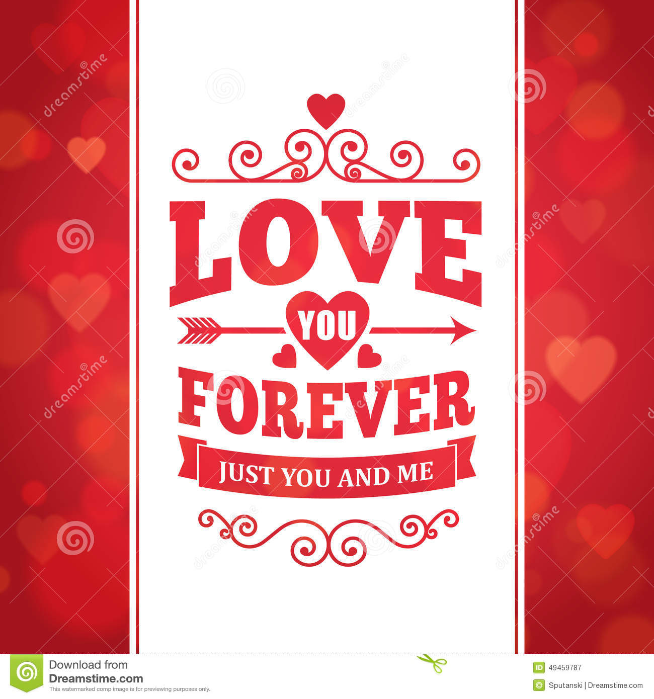 love you forever typography greeting card background poster stock vector image 49459787