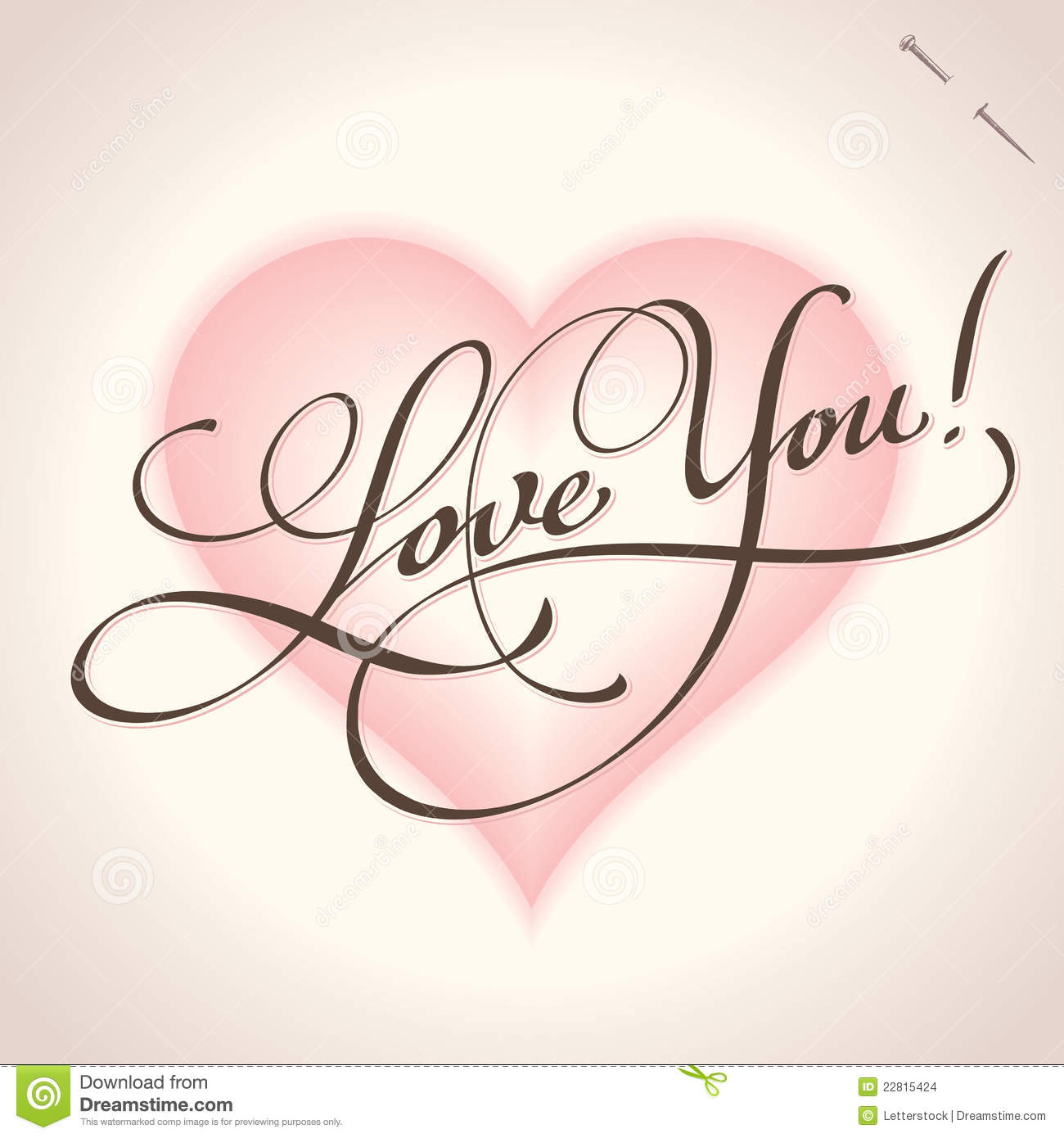 Love you hand lettering vector stock images image