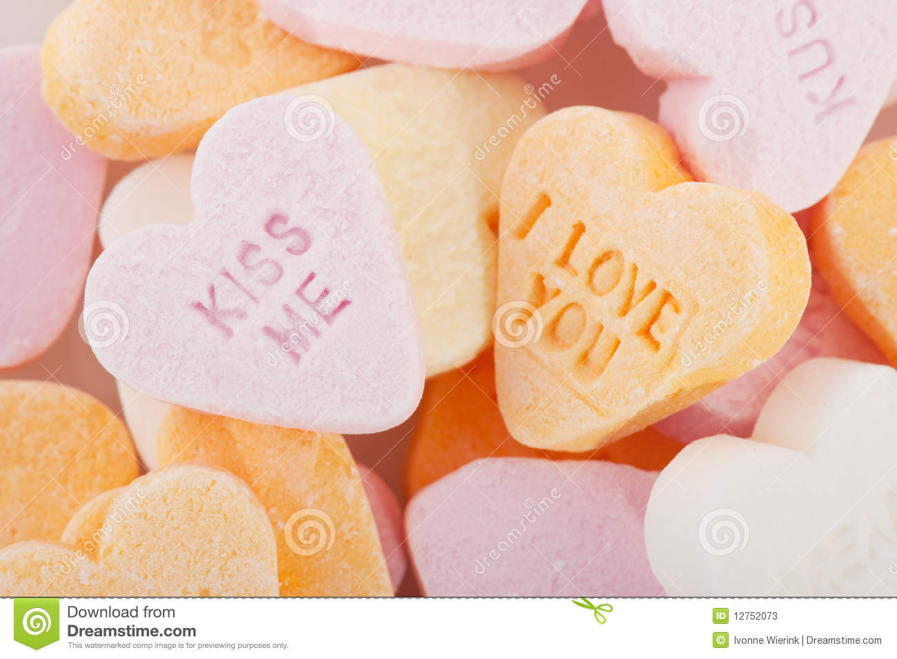 Love Wallpaper U And Me : Love You And Kiss Me candy Hearts Stock Image - Image: 12752073