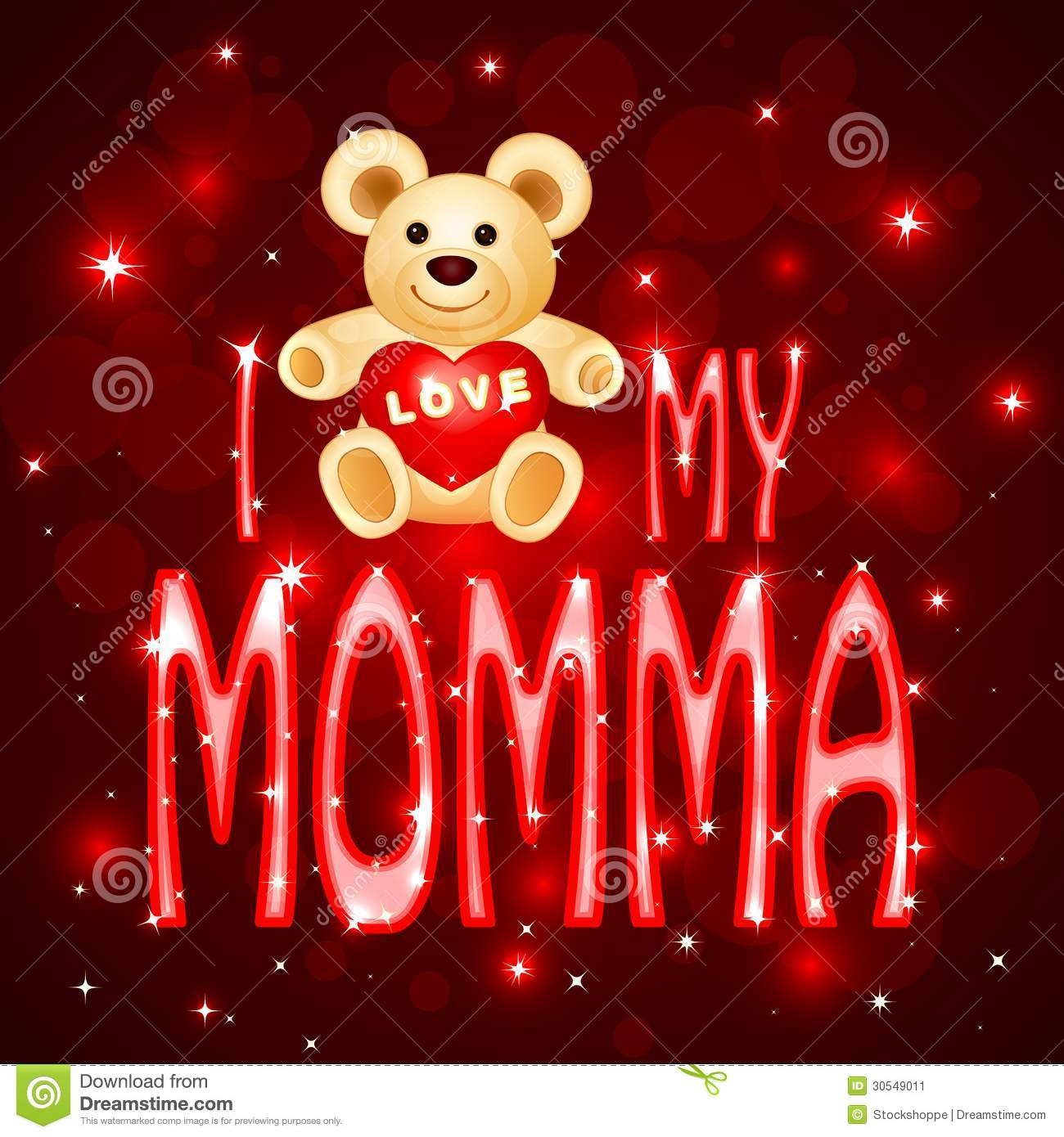 Stock Image Love You Mumma Card Vector Illustration Teddy Bear Momma Image30549011 on nature frames