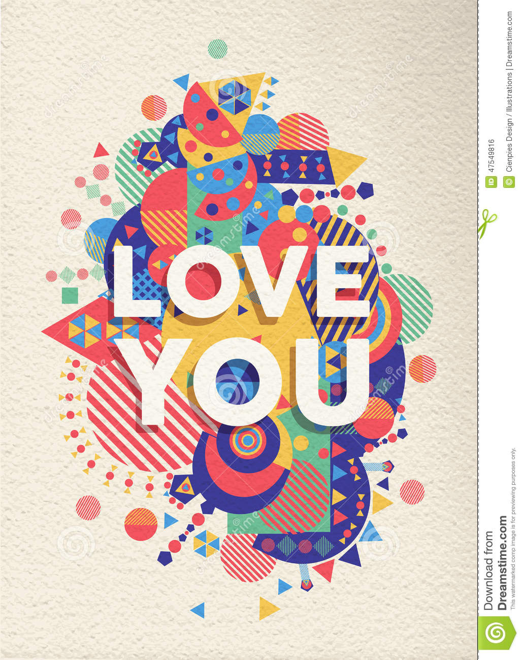 Love you quote poster designQuote Poster Design