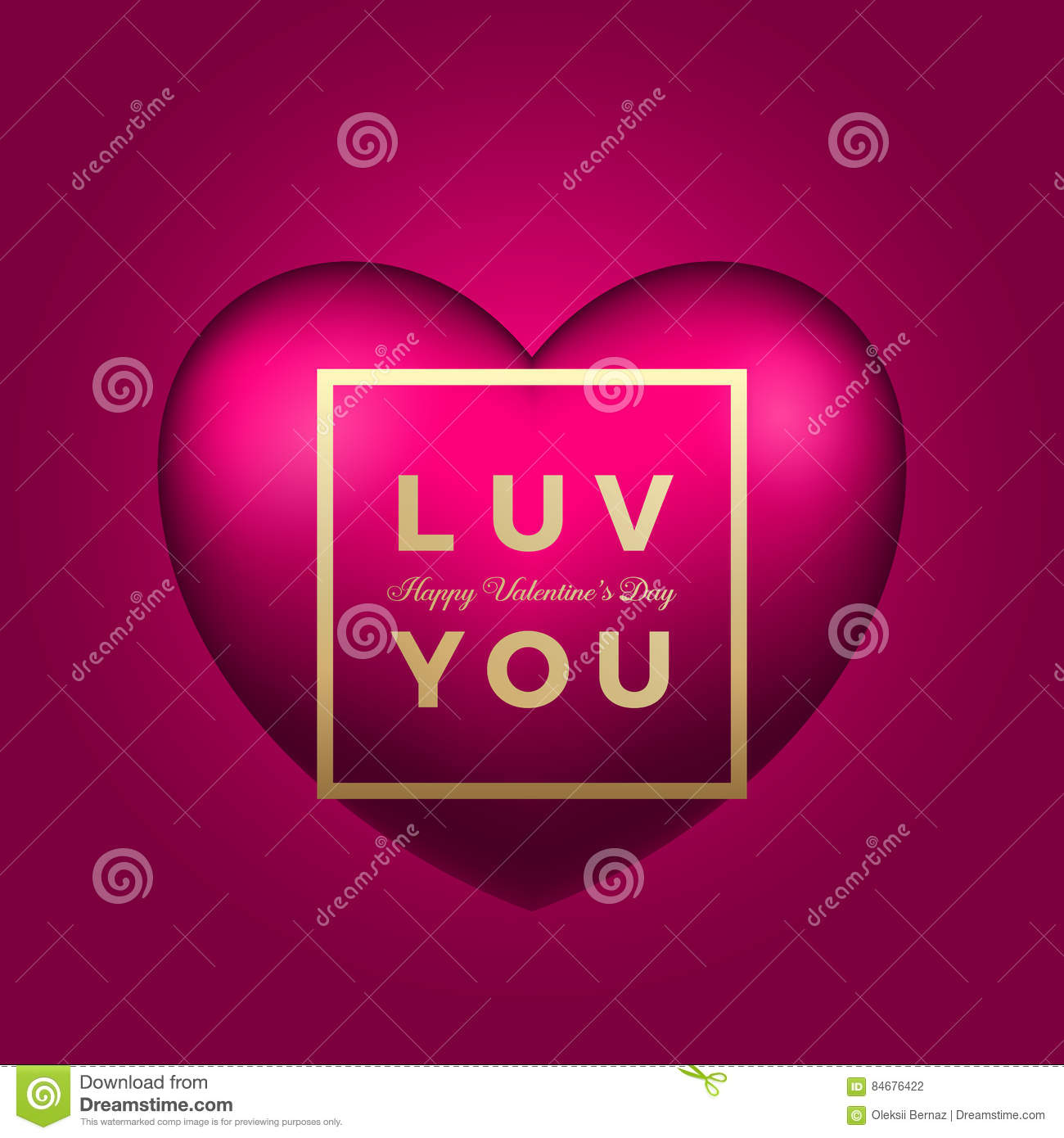 Love you vector heart on pink background valentines day greetings love you vector heart on pink background valentines day greetings golden modern typography in a frame classy card or kristyandbryce Choice Image