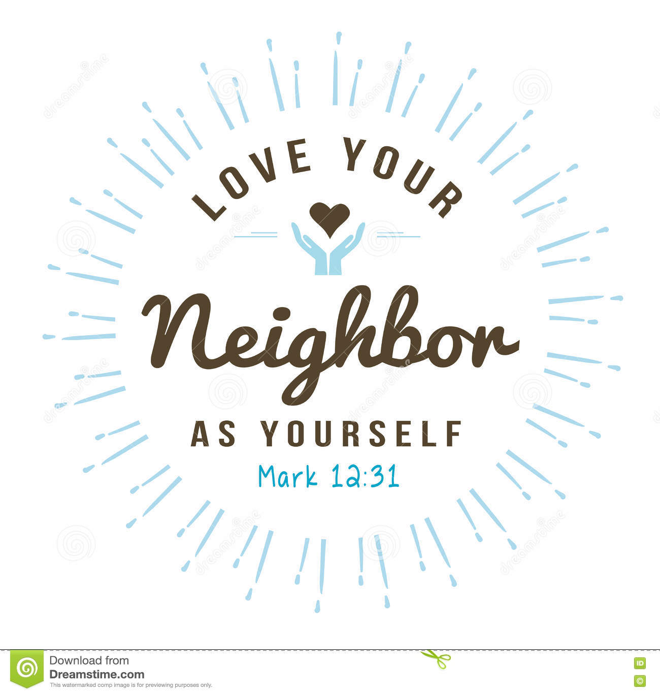 Royalty Free Vector Download Love Your Neighbor