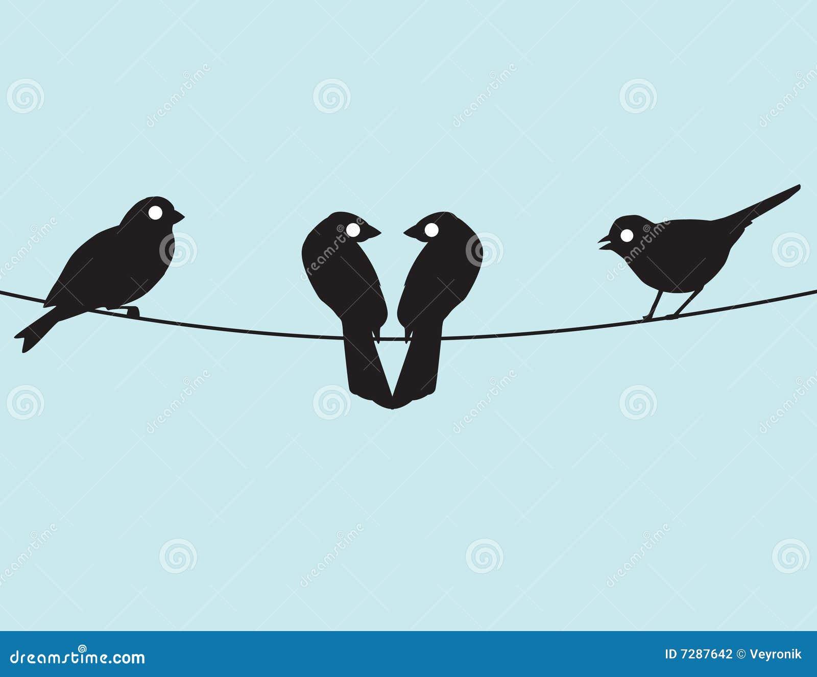 Lovebirds y amigos