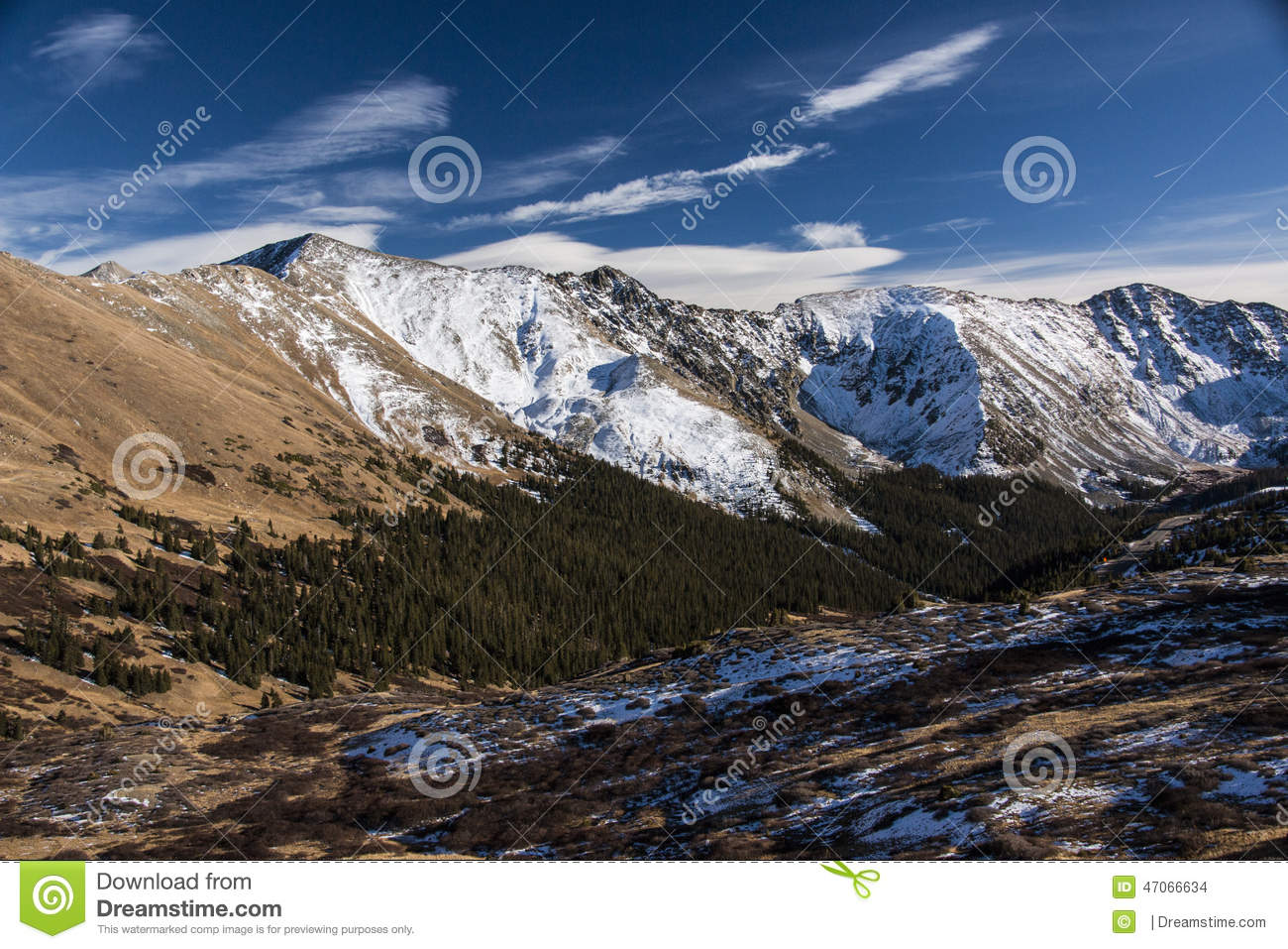 Loveland Pass in Colorado the Mountains