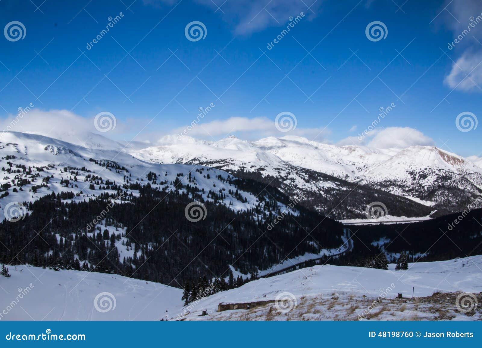 Loveland Pass in Colorado the Mountains