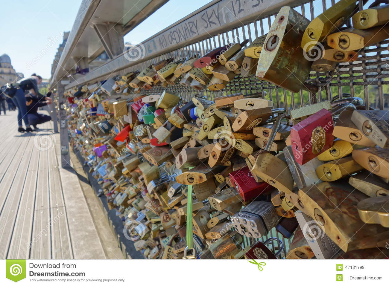 Lovelocks en el puente en París