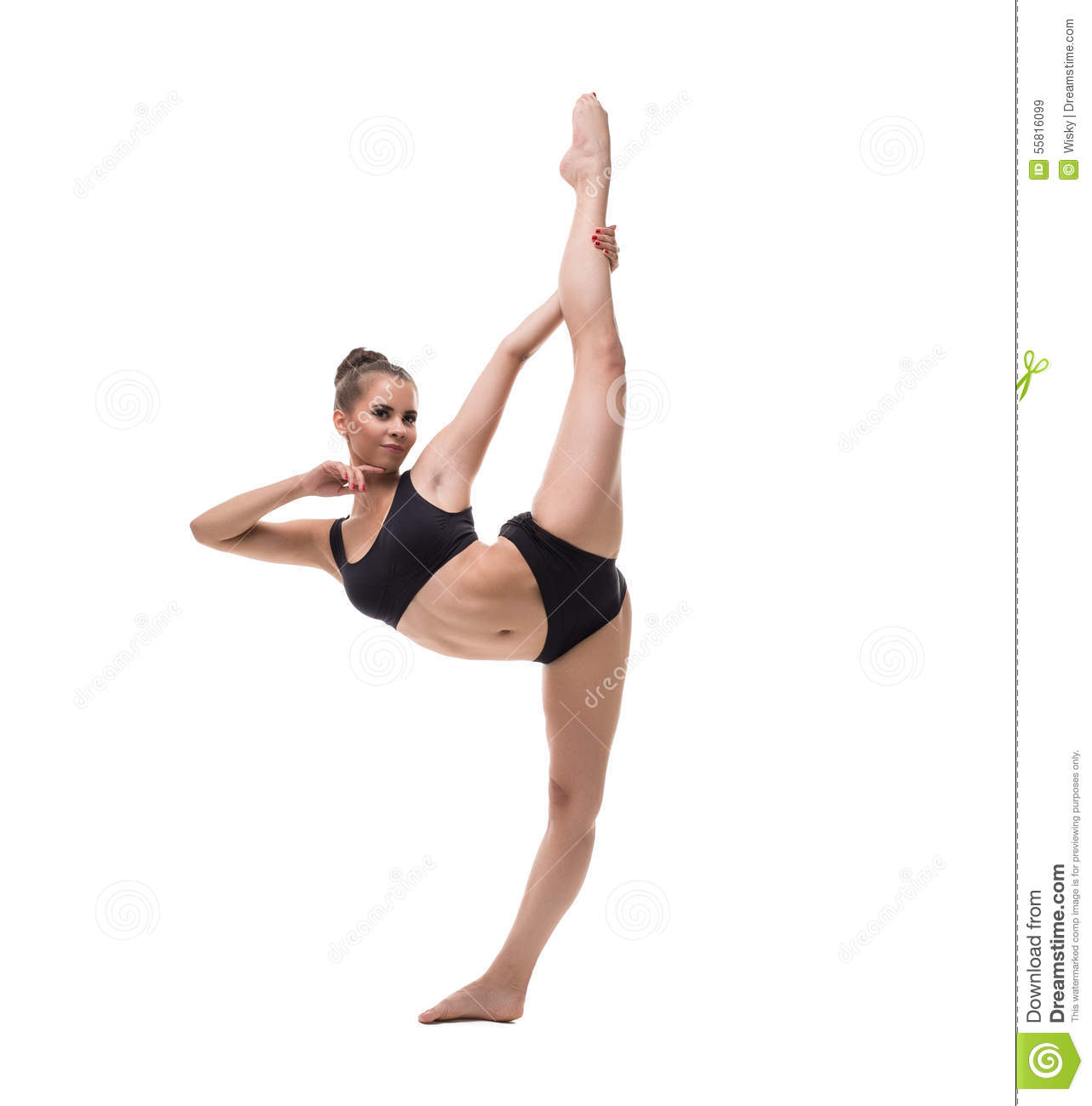 nude while doing splits