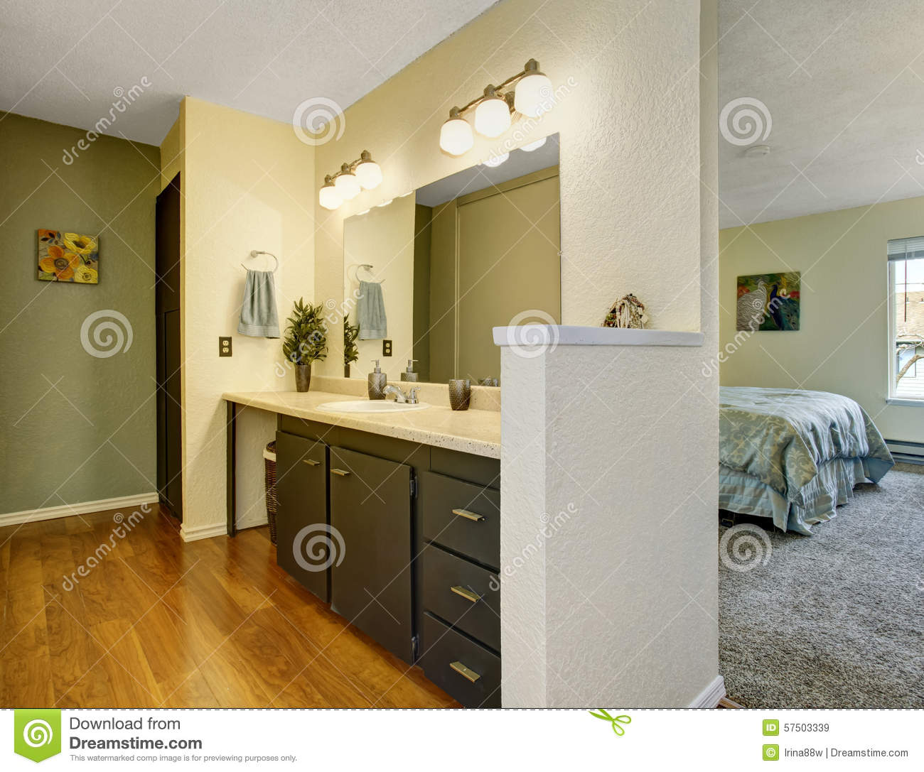 Vastu For Master Bedroom With Attached Bathroom: Lovely Bathroom Royalty-Free Stock Photography