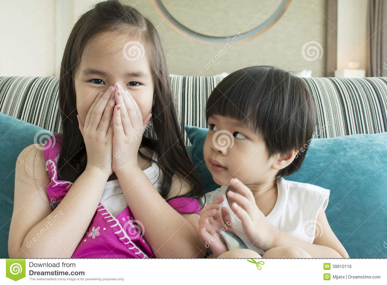 Lovely Brother And Sister Stock Photo Image Of Laugh 39910116