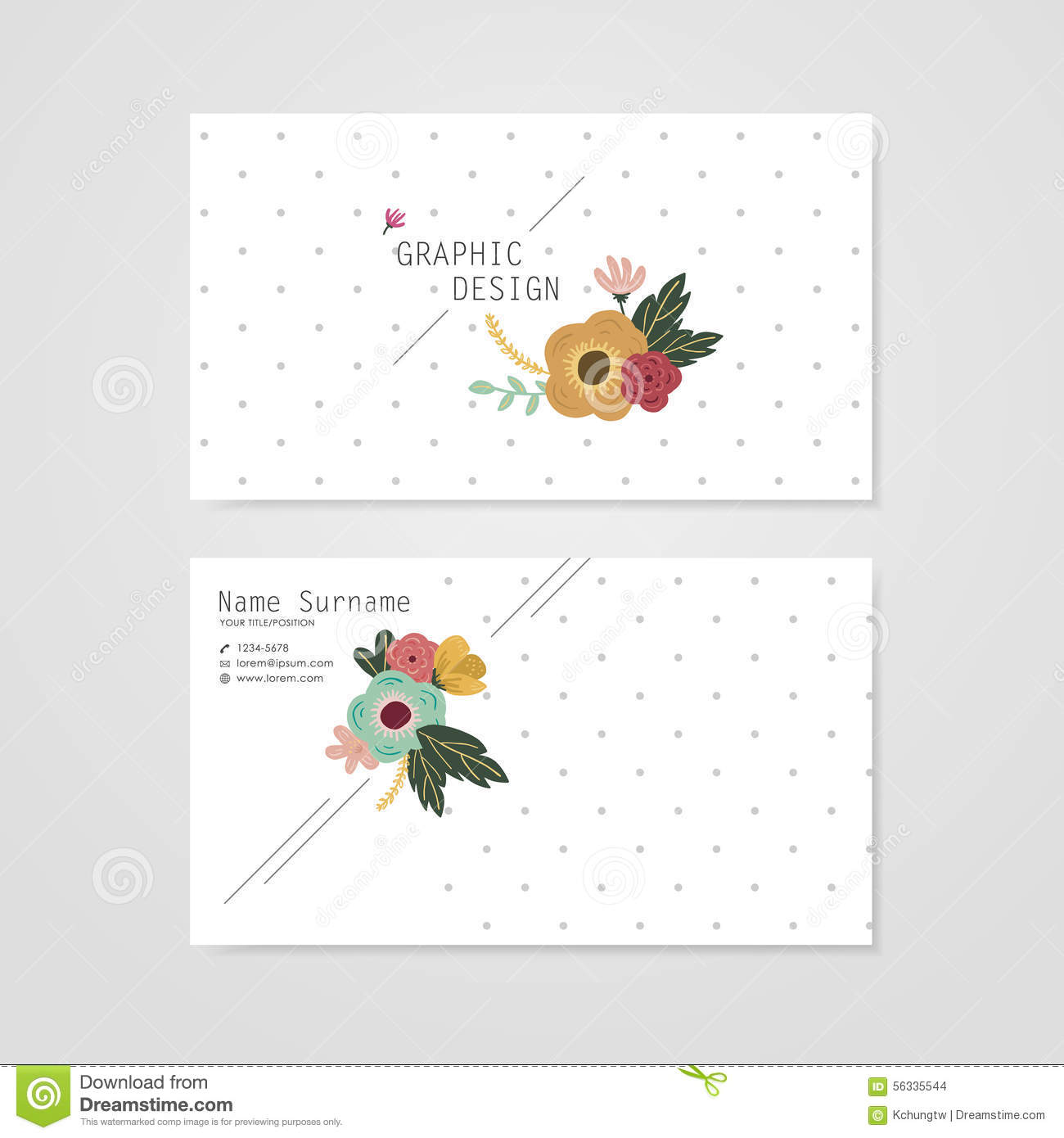 Lovely Business Card Template Design Stock Vector - Illustration ...