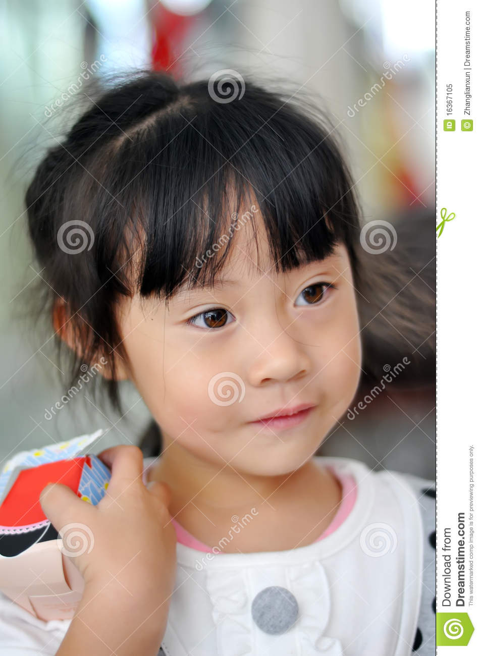 a lovely chinese girl stock image image of cute beauty